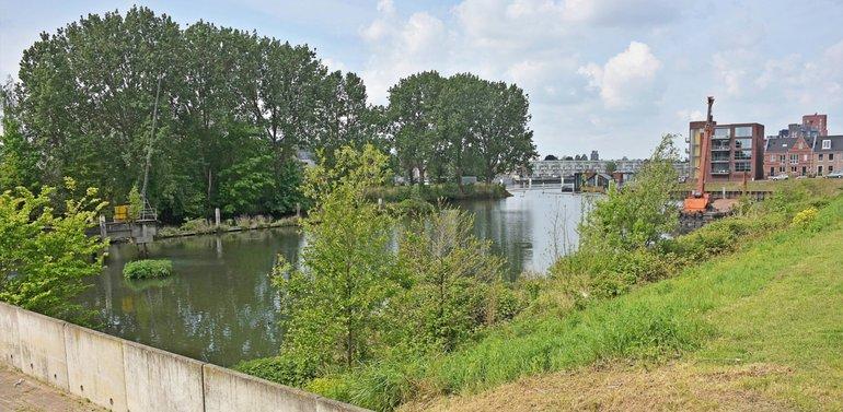 Haven aan het Wantij met landtong